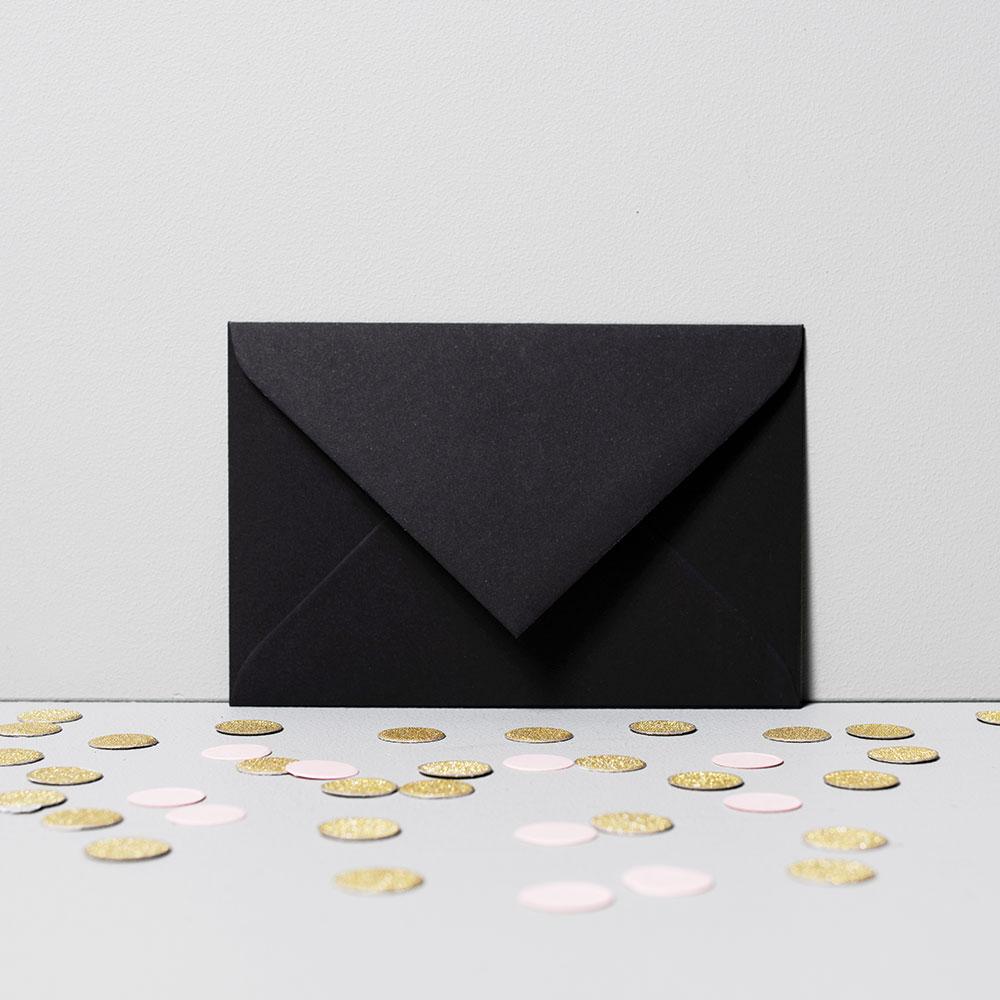 fotoMagnesy na ślub z podpisem + koperty czarne 8 sztuk