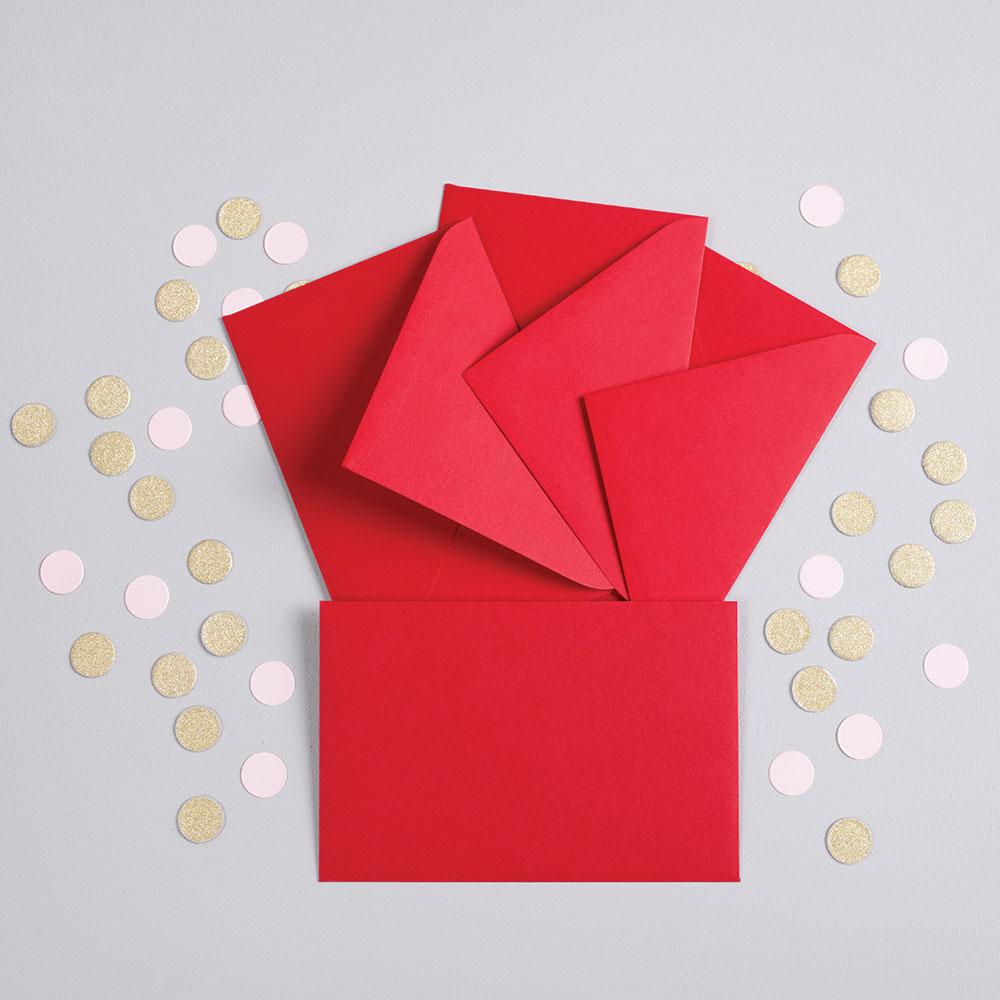 fotoMagnesy komunijne 9 x 6 cm + koperty czerwone 8 sztuk