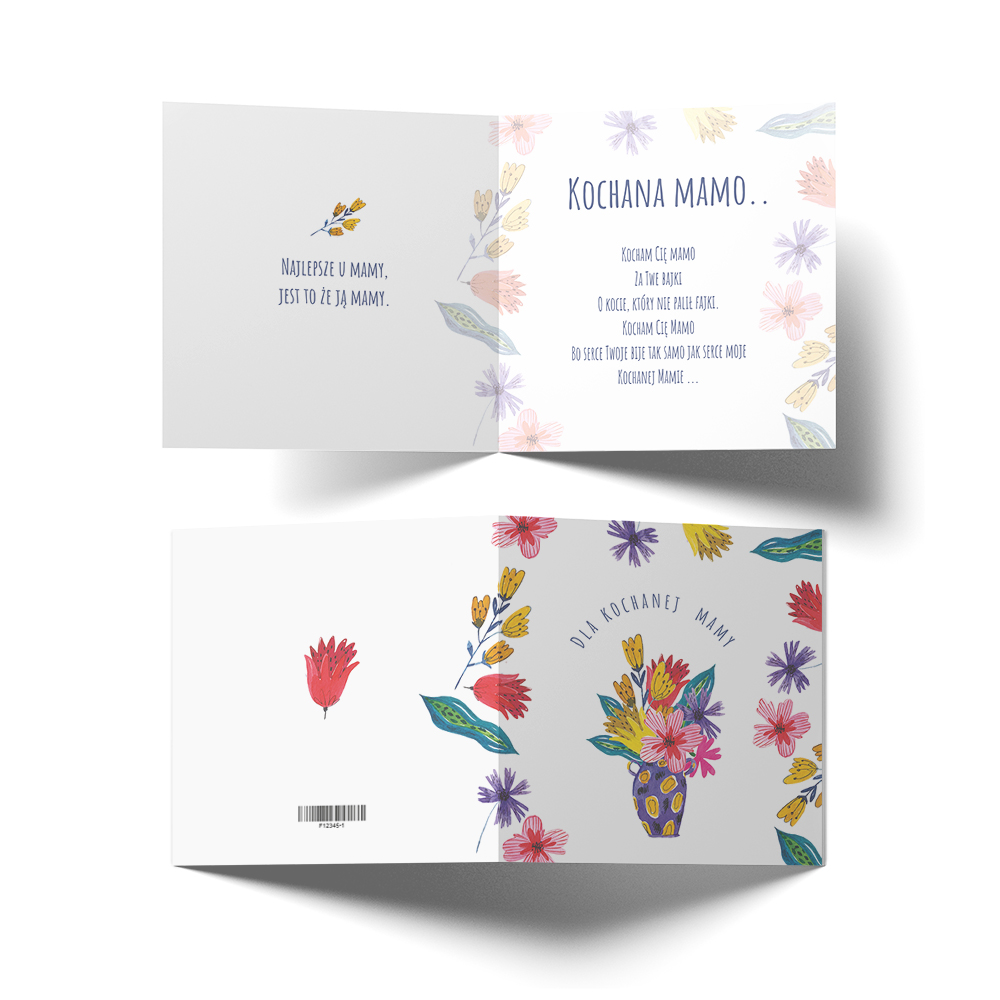 Kartka z życzeniami na Dzień Matki kwiatowa