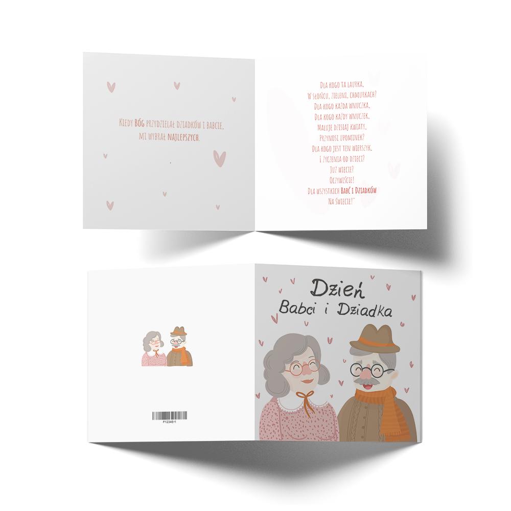 Kartka z życzeniami na Dzień Babci i Dziadka