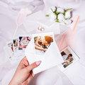 fotoMagnesy Polaroid + koperty białe 8 sztuk