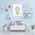 Plakat metryczka dziecka personalizowana królestwo zwierząt