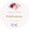 Magnesy ślubne personalizowane podziękowania dla gości kwiatowe glamour