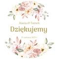 Magnesy ślubne personalizowane podziękowania dla gości kwiatowe pastele glamour