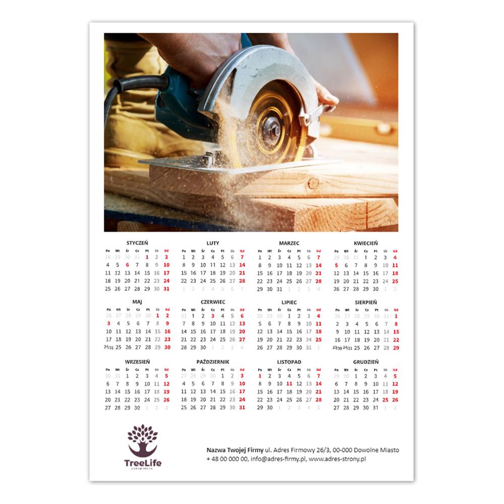 Kalendarz Plakatowy Klasyczny A3 logo + nazwa firmy