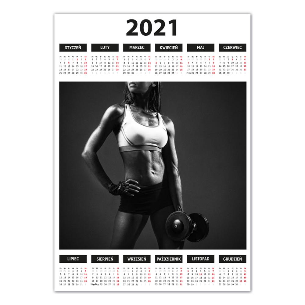 Kalendarz Plakatowy Black White A3