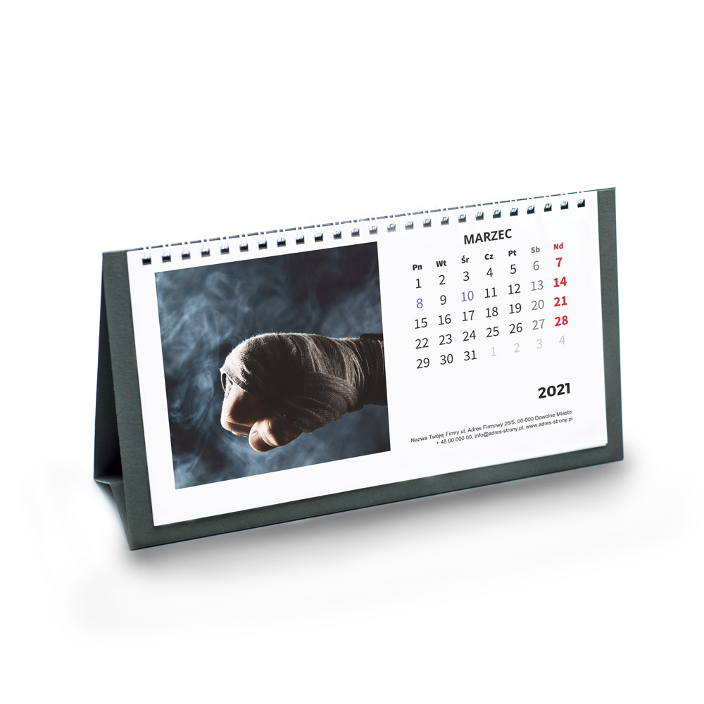 Kalendarz Biurkowy Klasyczny bez imienin + nazwa firmy