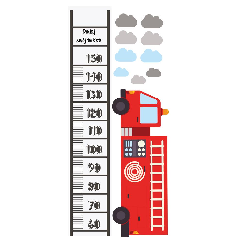 Miarka wzrostu z imieniem straż pożarna