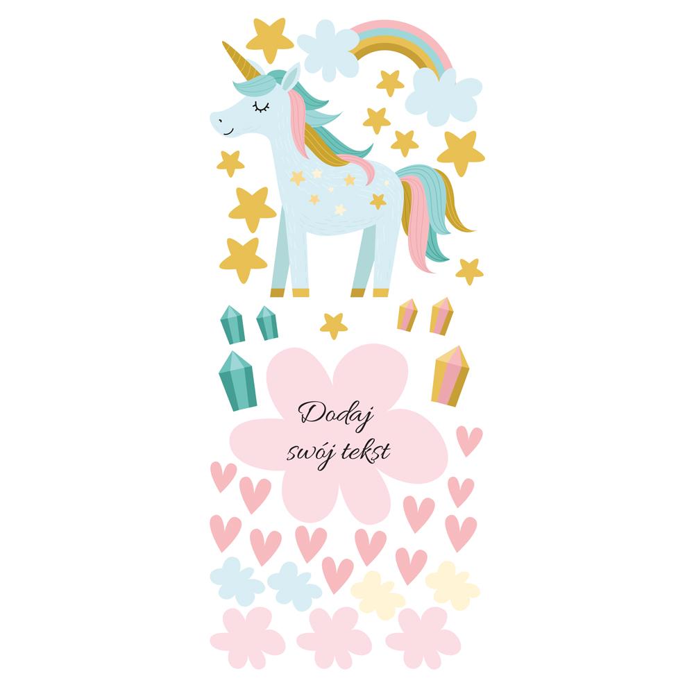Naklejka na ścianę z imieniem unicorn
