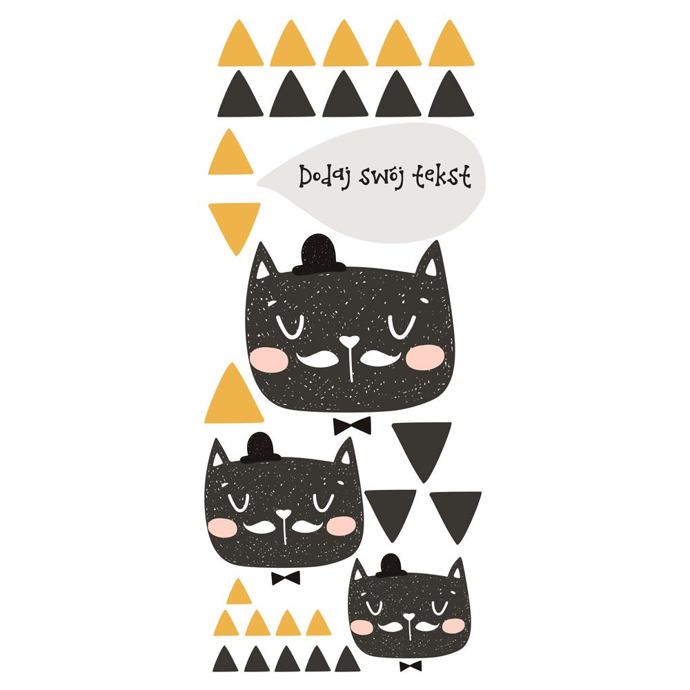 Naklejka na ścianę z imieniem kot dżentelmen