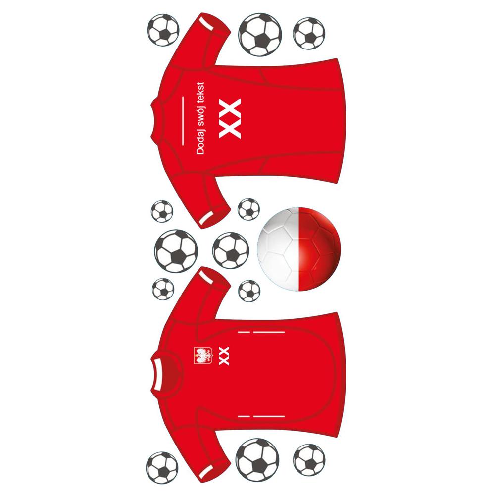 Naklejka na ścianę z imieniem koszulka piłkarska