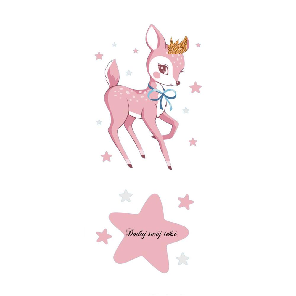 Naklejka na ścianę z imieniem sarenka Bambi
