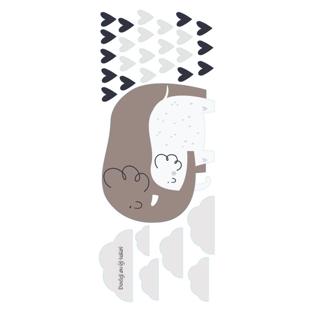 Naklejka na ścianę z imieniem słoniki