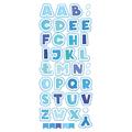 Naklejka edukacyjna dla dzieci alfabet niebieski