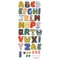 Naklejka edukacyjna dla dzieci alfabet wzorzysty