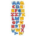 Naklejka edukacyjna dla dzieci alfabet stworki potworki