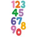 Naklejka edukacyjna dla dzieci cyfry dziecięce