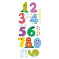 Naklejka edukacyjna dla dzieci cyfry buźki