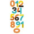 Naklejka edukacyjna dla dzieci cyfry kolorowe wzorki
