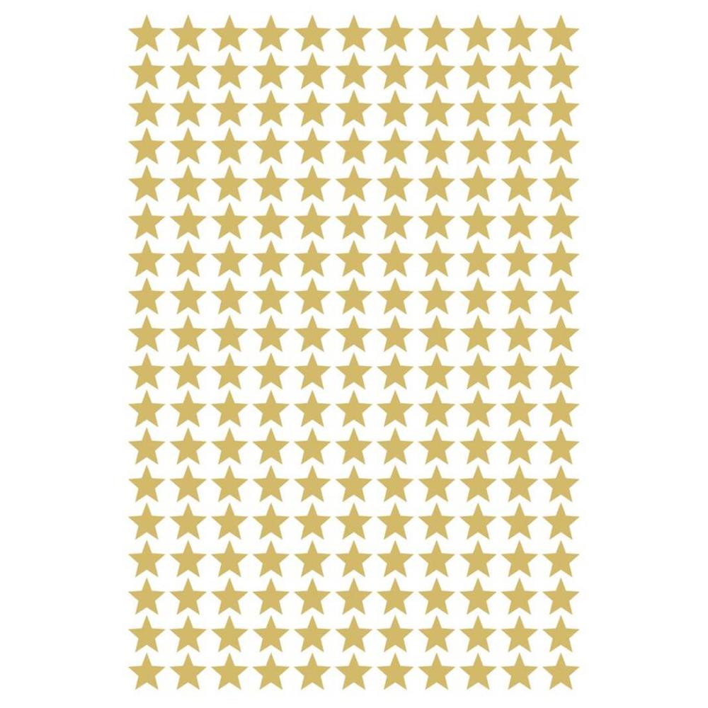 Naklejka dekoracyjna na ścianę złote gwiazdki