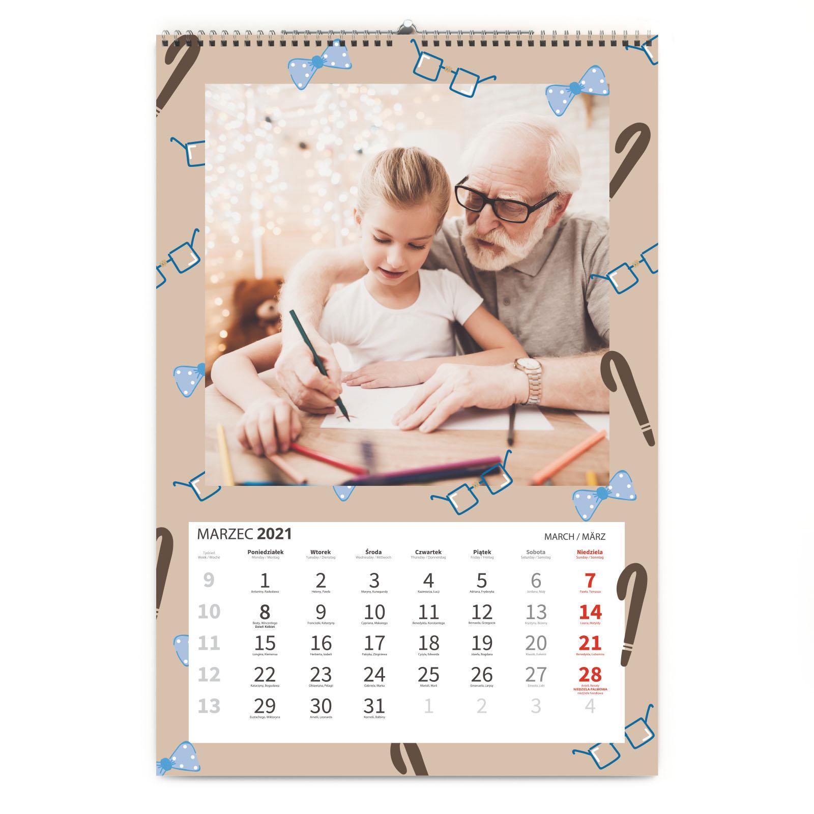 Kalendarz ze zdjęć na Prezent dla Dziadka