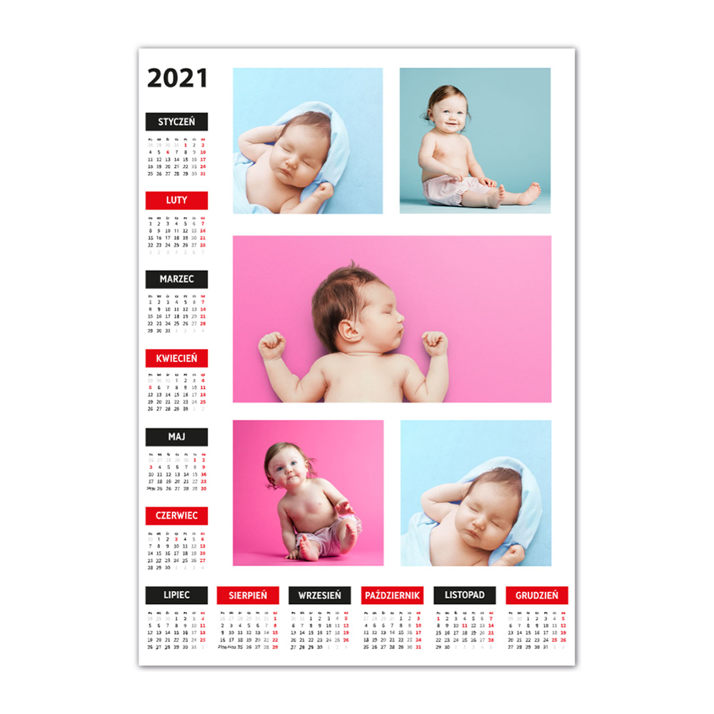 Kalendarz Plakat A3 ze zdjęciami