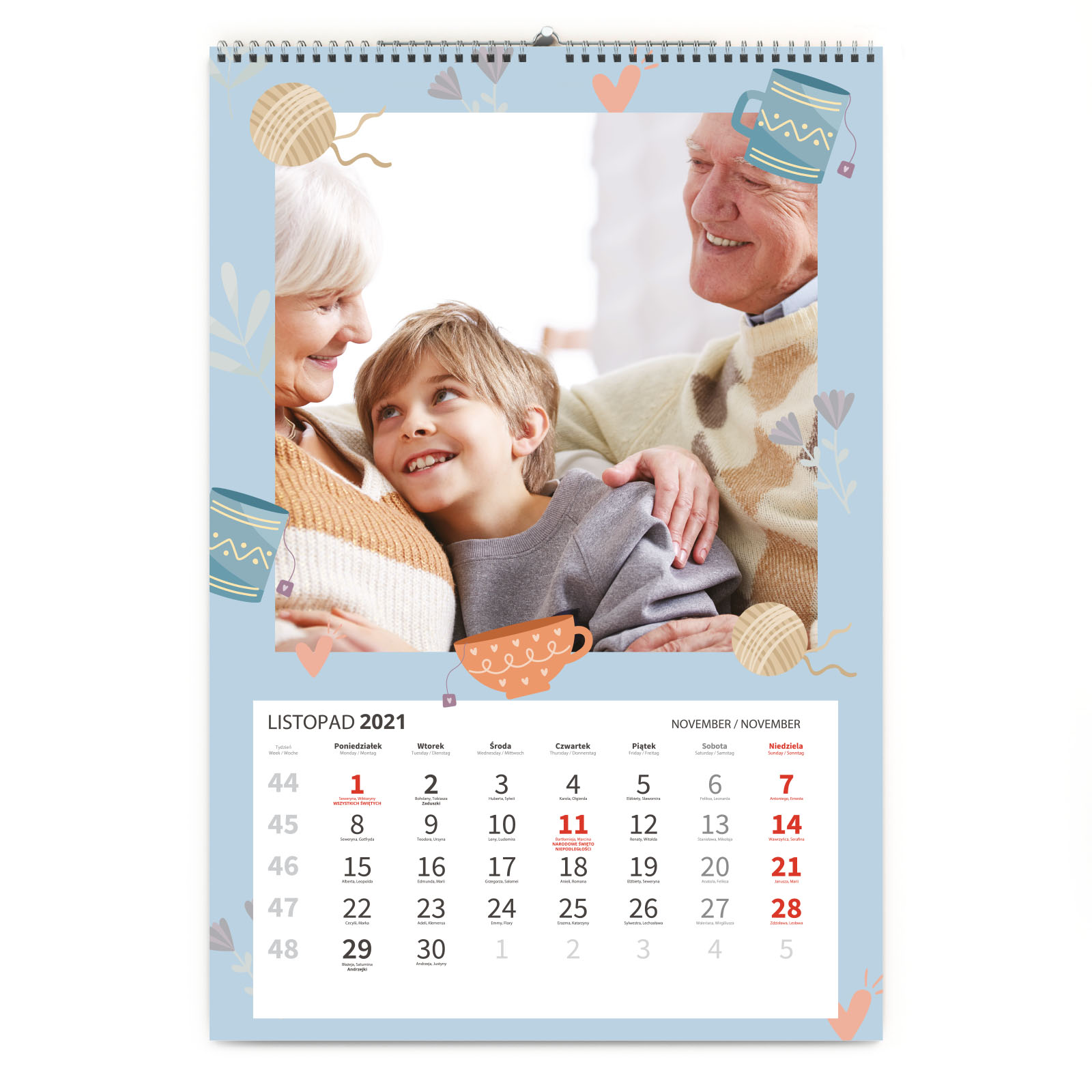 foto Kalendarz na prezent dla Babci ścienny