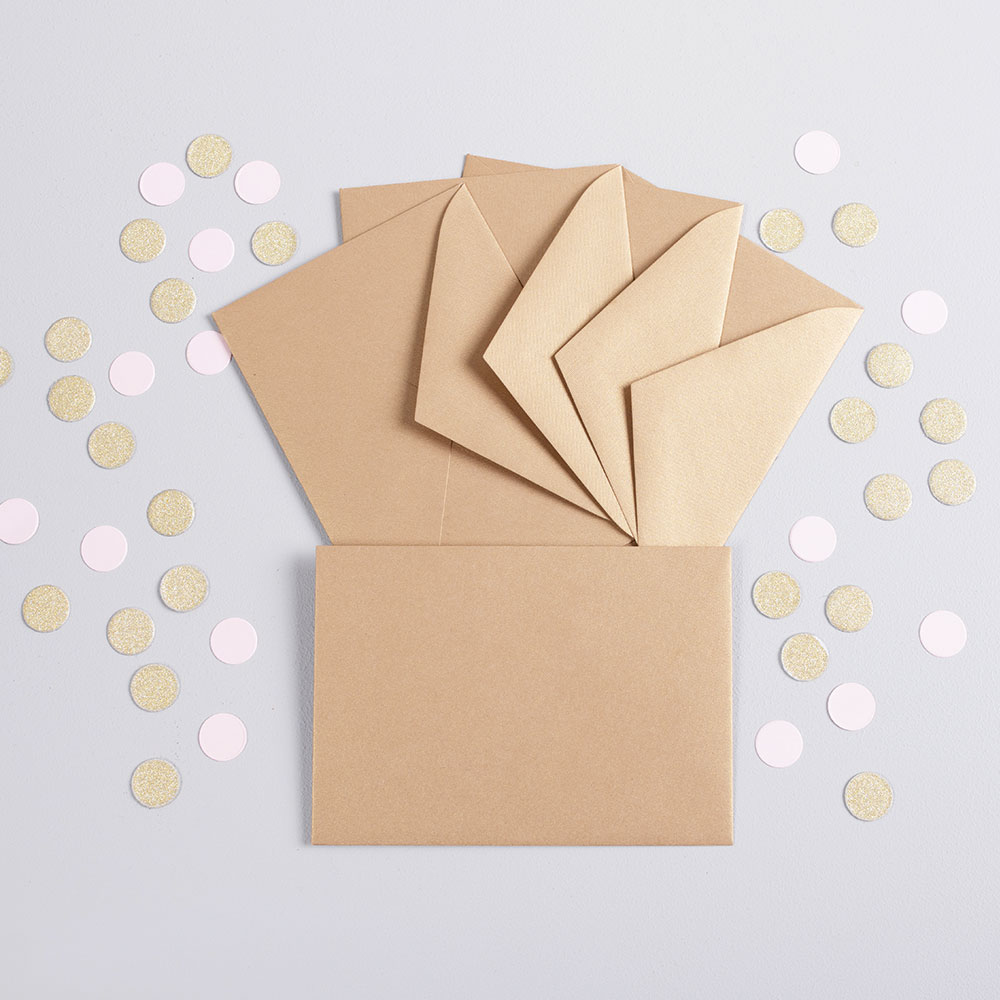 foto Magnesy na święta 9 x 6 cm + koperty ZŁOTE 8 sztuk