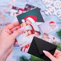 foto Magnesy na święta 9 x 6 cm + koperty CZARNE 8 sztuk