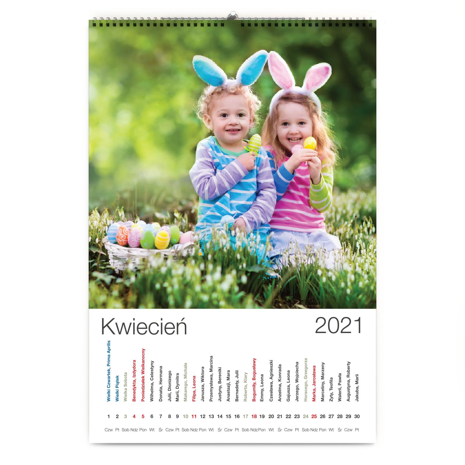 foto Kalendarz na prezent na mikołajki ścienny
