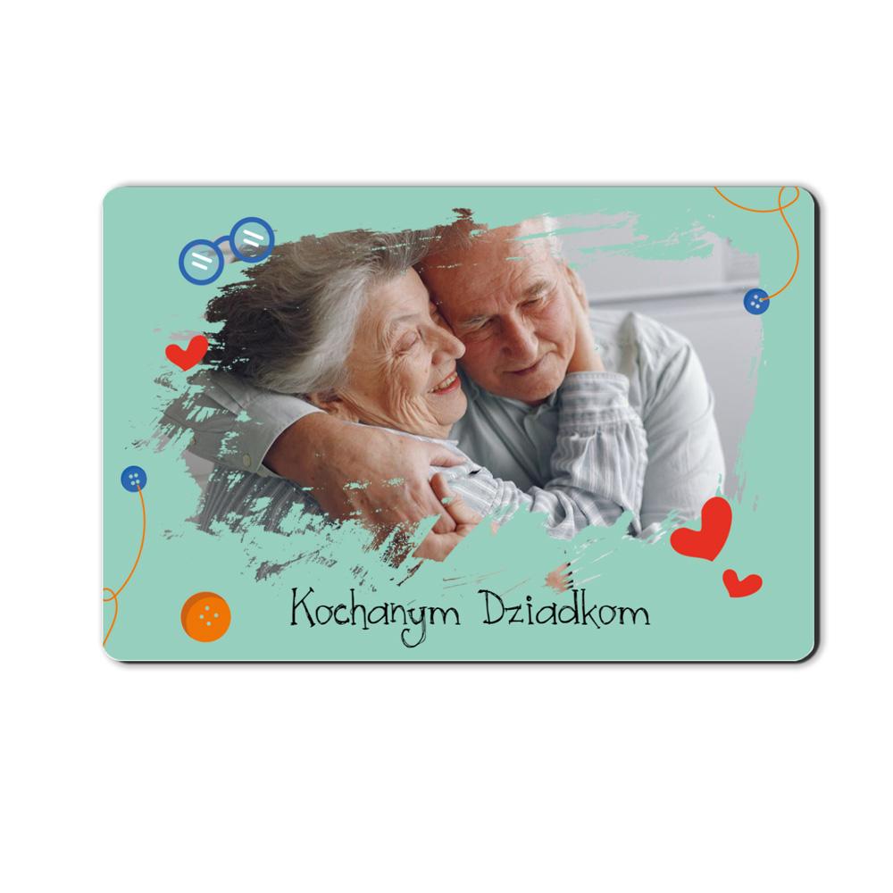 foto magnes ze zdjęciem dla Dziadka i Babci zielony 15 x 10 cm