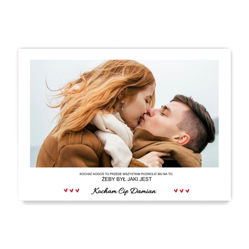 fotoPlakat dla chłopaka ze zdjęciem cytat personalizowany prezent na Walentynki B2