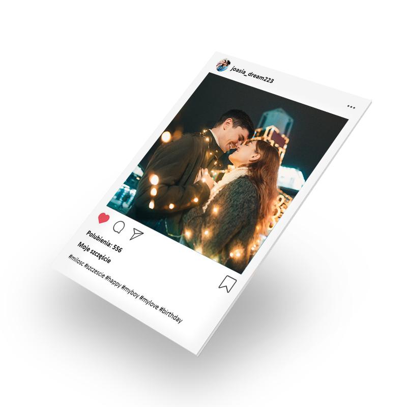 Zdjęcie na piance Instagram dla dziewczyny na walentynki 40x30 cm