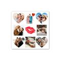 fotoPlakat kwadrat dla dziewczyny usta prezent na Walentynki