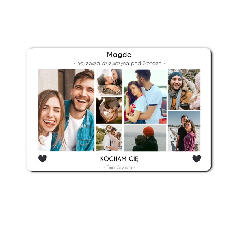 foto magnes ze zdjęciem na walentynki dla dziewczyny kolaż 15 x 10 cm