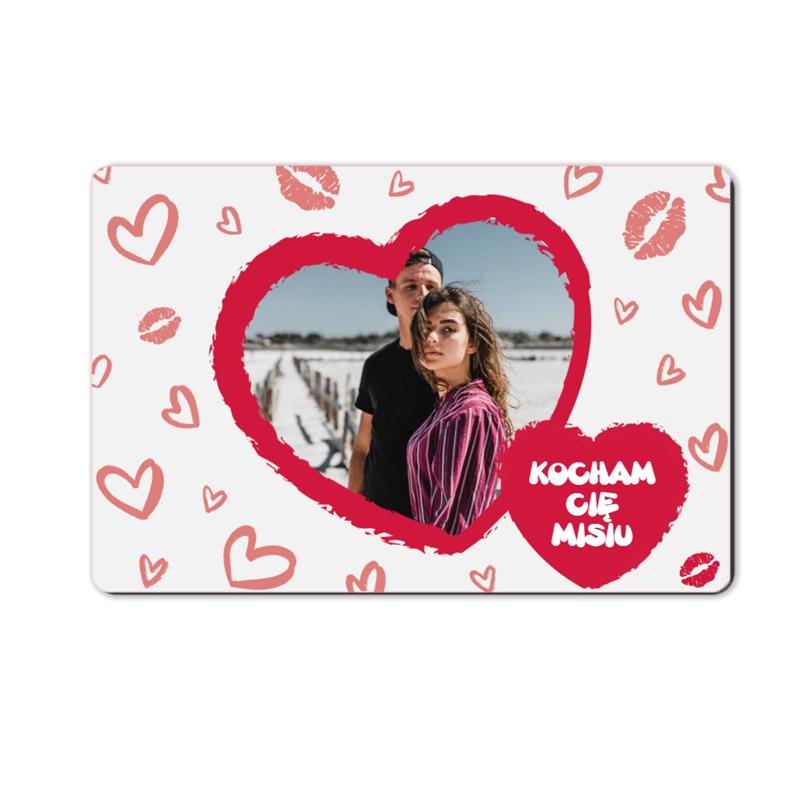 foto magnes ze zdjęciem na walentynki dla chłopaka laurka 15 x 10 cm