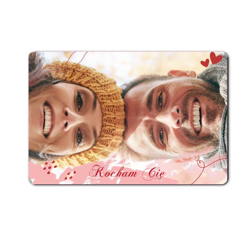 foto magnes ze zdjęciem na walentynki dla dziewczyny pastelowa 15 x 10 cm