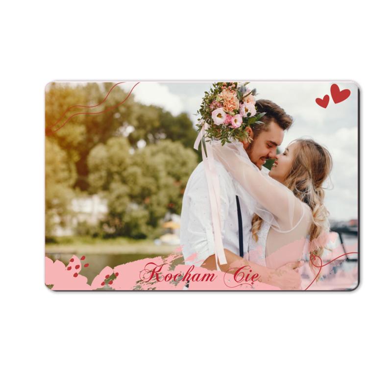foto magnes ze zdjęciem na walentynki dla chłopaka pastelowa 15 x 10 cm