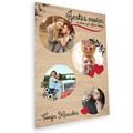Deska z nadrukiem na prezent na Walentynki kółeczka dla dziewczyny