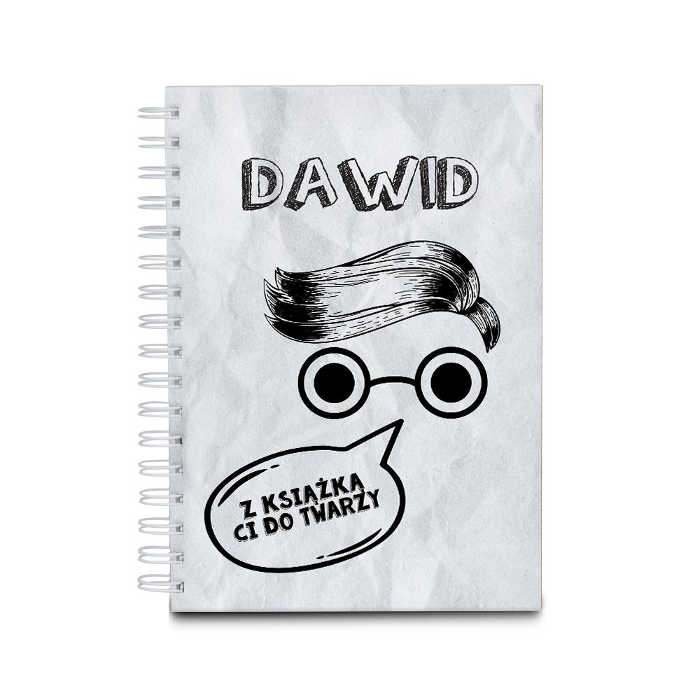 Notes personalizowany na spirali twarda oprawa 60 kartek mol książkowy na walentynki dla chłopaka