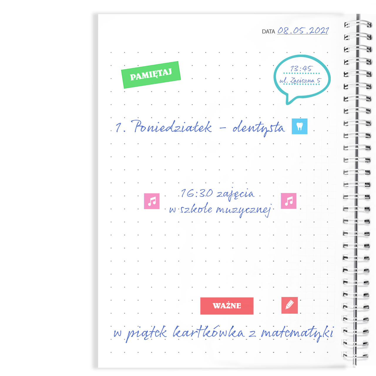Notes personalizowany na spirali twarda oprawa 60 kartek miłośnik książek na walentynki dla dziewczyny