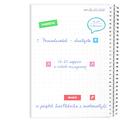 Notes personalizowany na spirali twarda oprawa 60 kartek pożeracz książek na walentynki dla dziewczyny