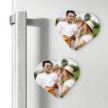 Magnesy personalizowane podziękowania dla gości komunia serce własne zdjęcie
