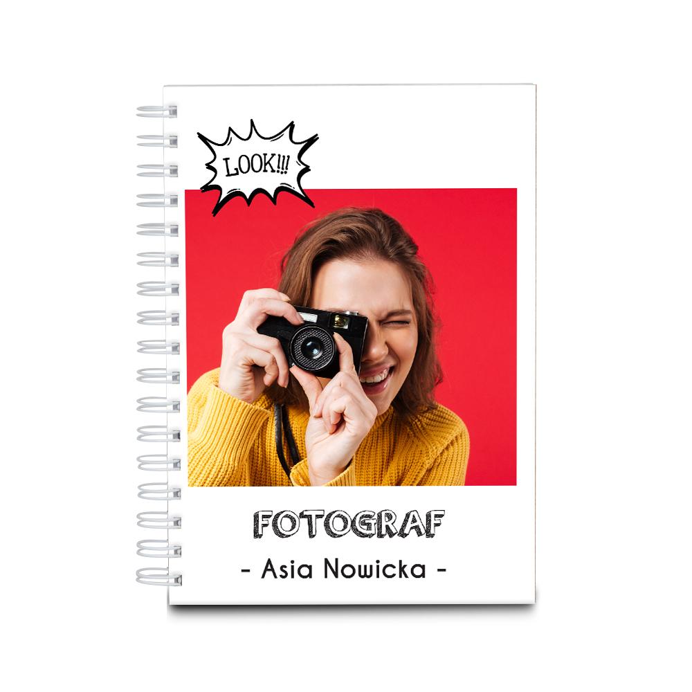 Notatnik z nadrukiem dla fotografa