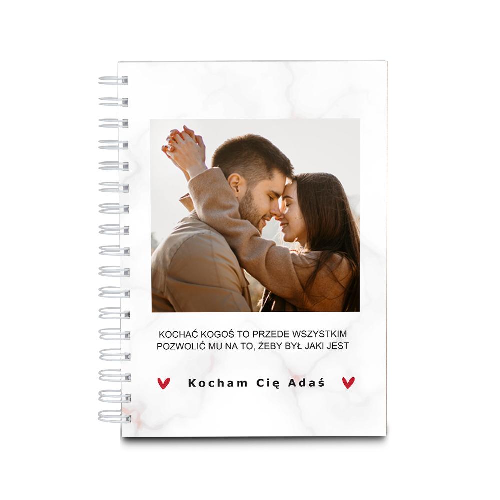 Notes personalizowany twarda oprawa 60 kartek miłość zdjęcie