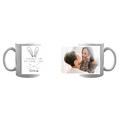 Kubek personalizowany z własnym zdjęciem kocham Cię po same uszy