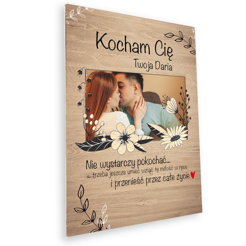 Deska z nadrukiem na prezent ze zdjęciem wyznanie