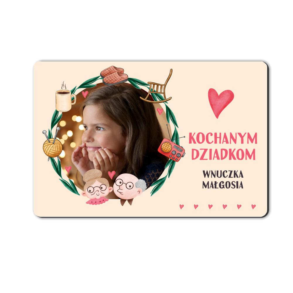 foto magnes ze zdjęciem od wnuczki 15 x 10 cm