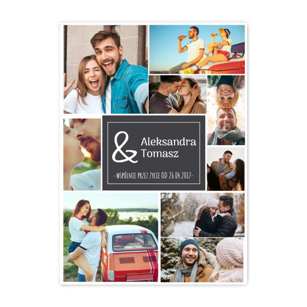 Plakat ze zdjęć do ramki ikea 50x70 wspólne wspomnienia