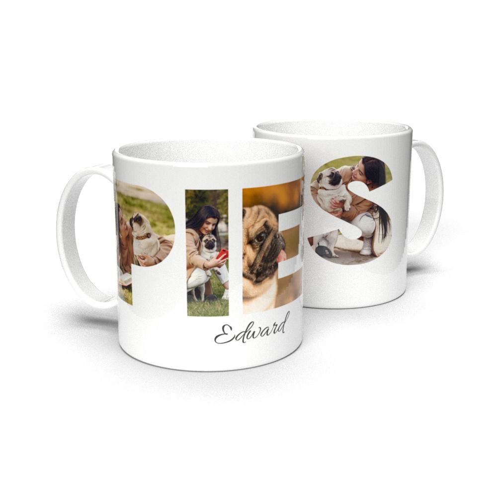Kubek ze zdjęciami personalizowany dla właściciela psa